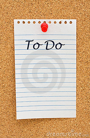 Making your to do list