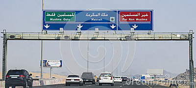 Makkah Road Signs Editorial Photography Image 60159752