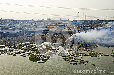 Makoko fishing slums in Lagos Editorial Stock Image