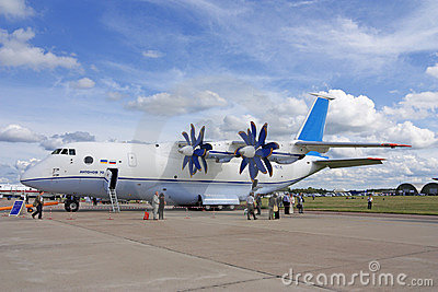 MAKS 2009. Airplane An-70 Editorial Stock Image