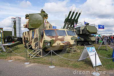 MAKS 2009. Anti-aircraft defence TOR Editorial Stock Photo