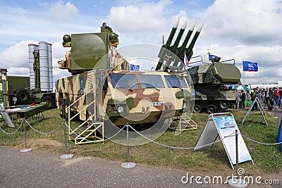 MAKS 2009. Anti-aircraft defence TOR Editorial Stock Photo