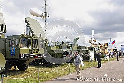 MAKS 2009. S-300 (missile) Favorit Editorial Image