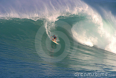 Makua Rothman Surfing at Waimea Bay Editorial Stock Image