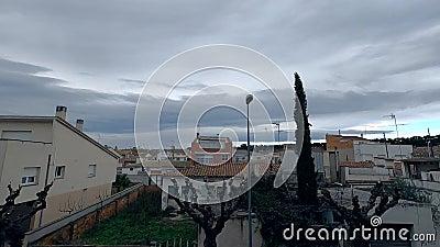 Mal clima en España almacen de video