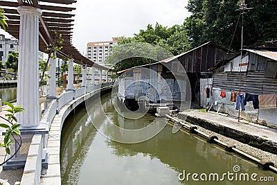 Malacca City Riverside Promenade, Malaysia.
