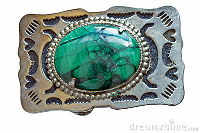 Malachite Belt Buckle