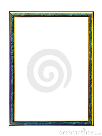 Malachite frame with gold trim for a picture