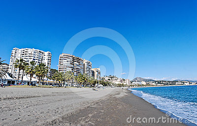 Malaga Beach and City