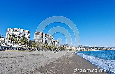 Malaga Beach and City