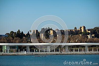 Malaga citadel and dock