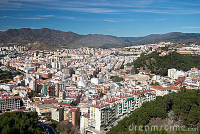 Malaga City Skyline, Spain