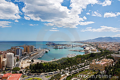 Malaga Cityscape - Harbor
