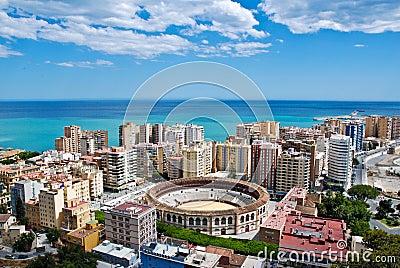 Malaga Cityscape - Sea