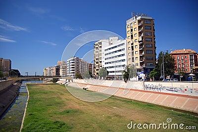 Malaga modern Editorial Stock Image