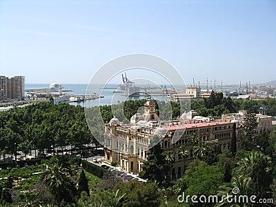 Malaga, seaport, Spain
