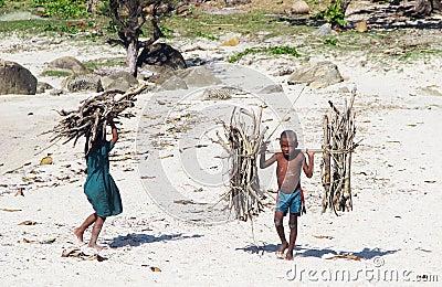 Malagasy children Editorial Stock Photo