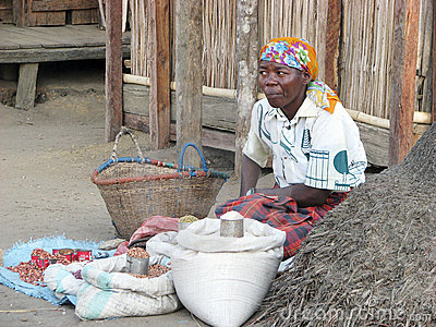 Malagasy vendor Editorial Photo