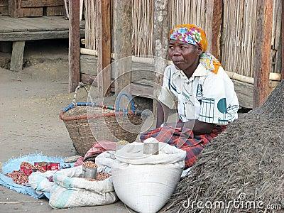 Malagasy vendor Editorial Photo