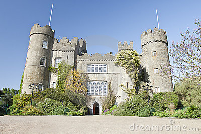 Malahide Castle in Dublin, Ireland.