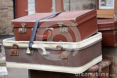 Malas de viagem do estilo velho