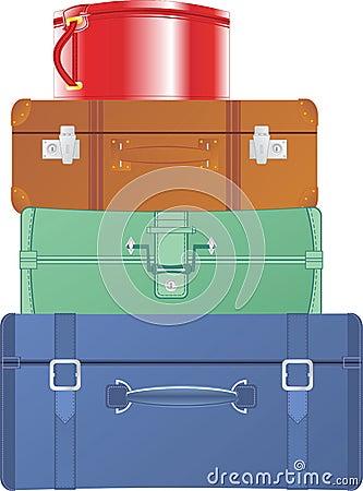 Malas de viagem e sacos do vintage