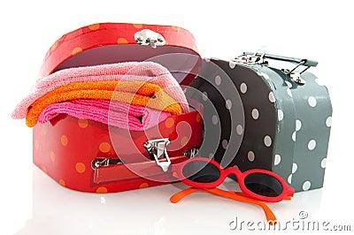 Malas de viagem embaladas