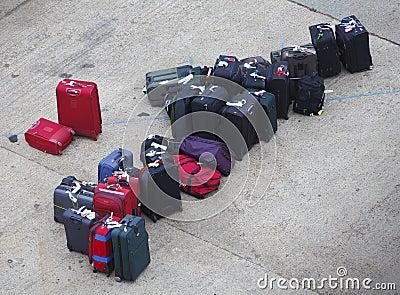 Malas de viagem perdidas da bagagem