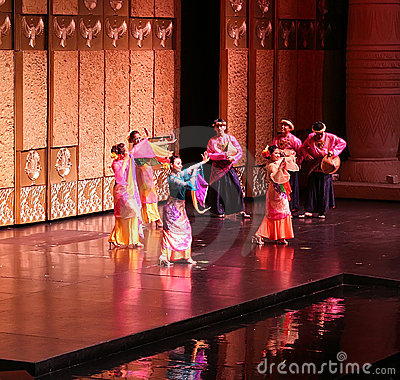 Malay Folk Dance Editorial Stock Image