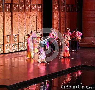 Malay Folk Dance Editorial Stock Image