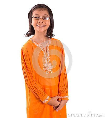 Free Malay Girl In Traditional Dress II Royalty Free Stock Images - 36811469