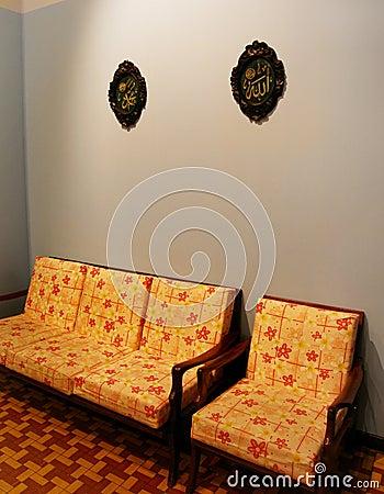 Malay house Interior in retro style