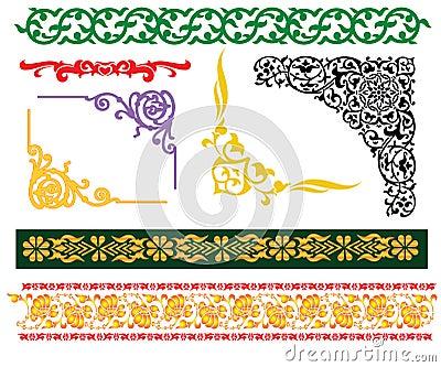 Malay islamic borders ornament