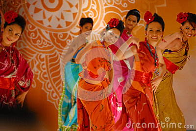 Malay Traditional Dance Editorial Photo