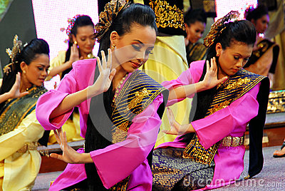 Malay Traditional Dance Editorial Stock Image