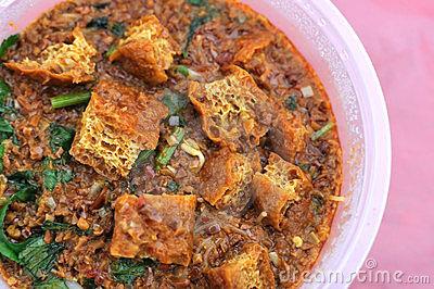 Malay traditional vegetarian curry