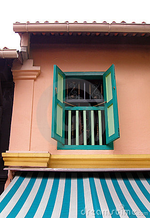 Malay village house window