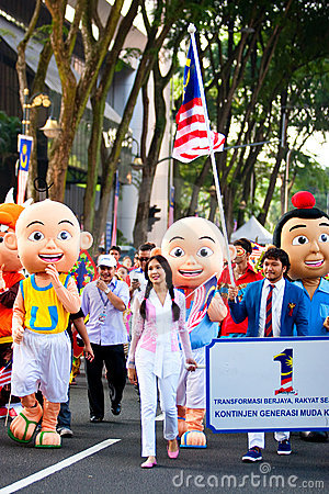 Malaysia 54th Independence Day Celebrations 2011 Editorial Photography