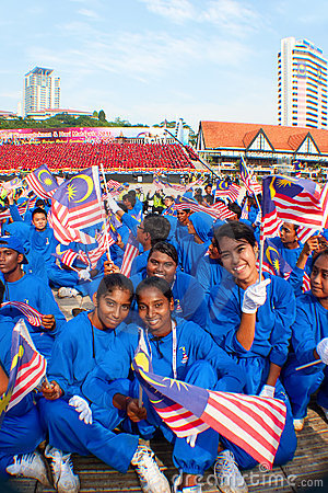 Malaysia 54th Independence Day Celebrations 2011 Editorial Photo