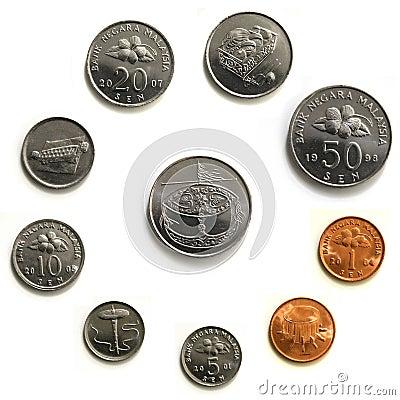 Malaysia Coins - macro