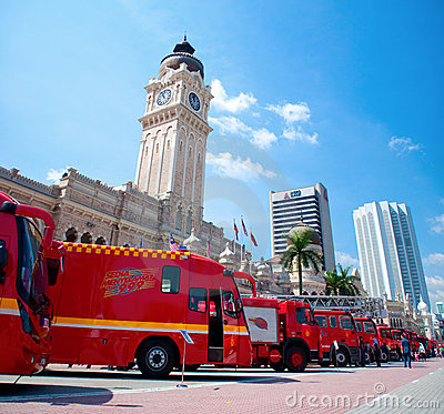Free Malaysia Fire Fighters Day Celebrations 2011 Stock Photo - 19478040