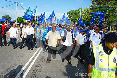 Malaysia General Election 2013 Editorial Stock Photo