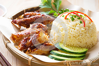 Malaysia grilled chicken rice.