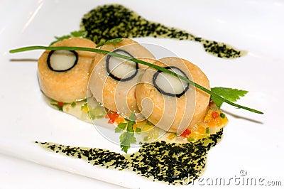 Malaysia Kuala Lumpur: Culinary; salmon medaillon