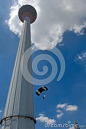 Free Malaysia Kuala Lumpur International Tower Jump Royalty Free Stock Image - 4362966