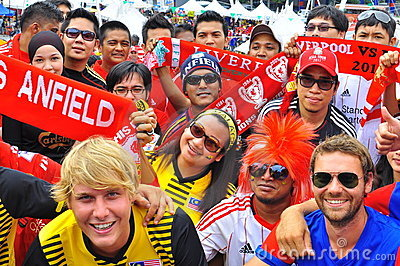 Malaysia and Liverpool football fan Editorial Stock Photo