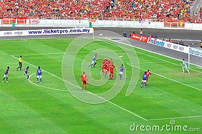 Malaysia and Liverpool football match Editorial Stock Photo
