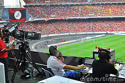 Malaysia and Liverpool football match Editorial Stock Photo