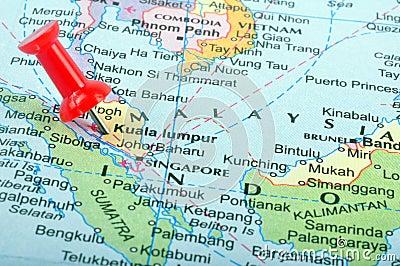 Malaysia in map