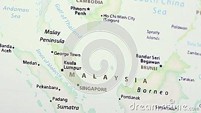 Malaysia på en översikt stock video